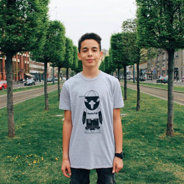 Kuro T-shirt Gray - Front